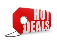 Label hot deals (clipping path included)